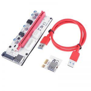 Alloyseed PCI Express Riser Card pci-e 1x к 16x видеокарты Райзер удлинитель USB 3.0 кабель 3 порта питания для БТД горно шахтер