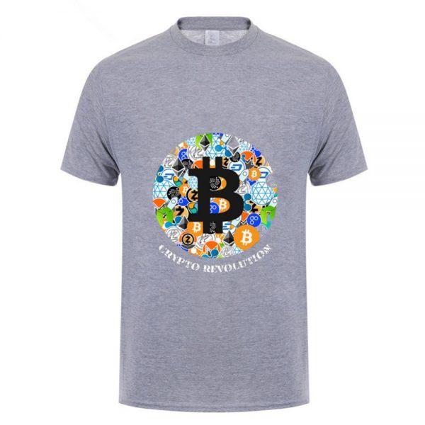 """Футболка с коротким рукавом """"Bitcoin и все все все"""" 100% хлопок 3"""