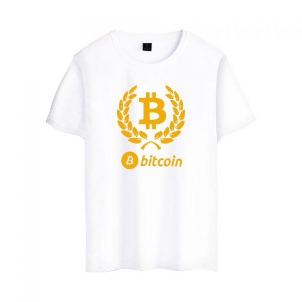 Брендовая футболка с коротким рукавом и принтом Bitcoin 2