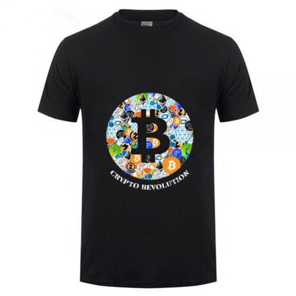 """Футболка с коротким рукавом """"Bitcoin и все все все"""" 100% хлопок"""