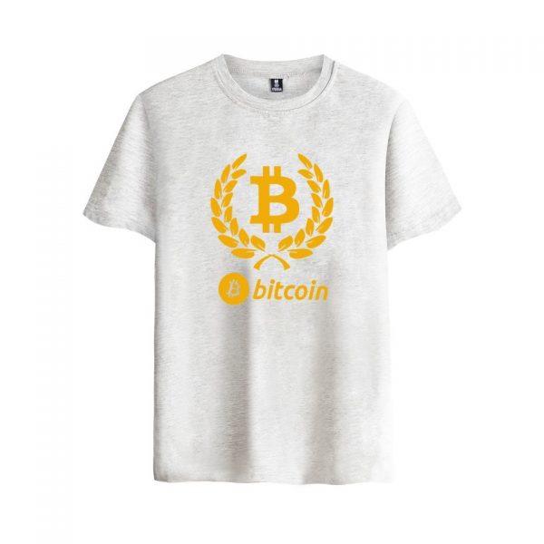 Брендовая футболка с коротким рукавом и принтом Bitcoin 4