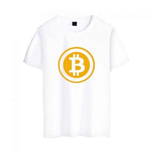 Брендовая футболка с коротким рукавом и принтом Bitcoin 3