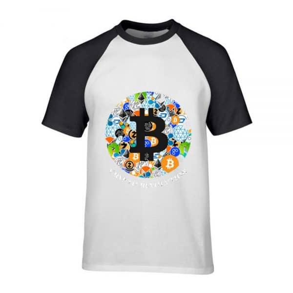 """Футболка с коротким рукавом """"Bitcoin и все все все"""" 100% хлопок 1"""