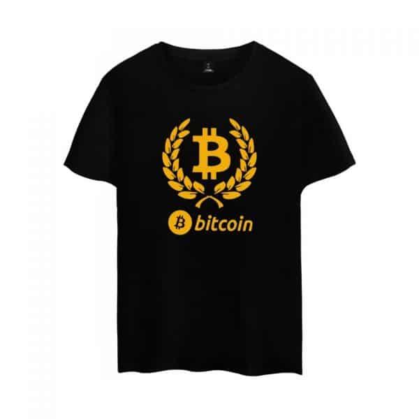 Стильная футболка c коротким рукавом и логотипом Bitcoin 1