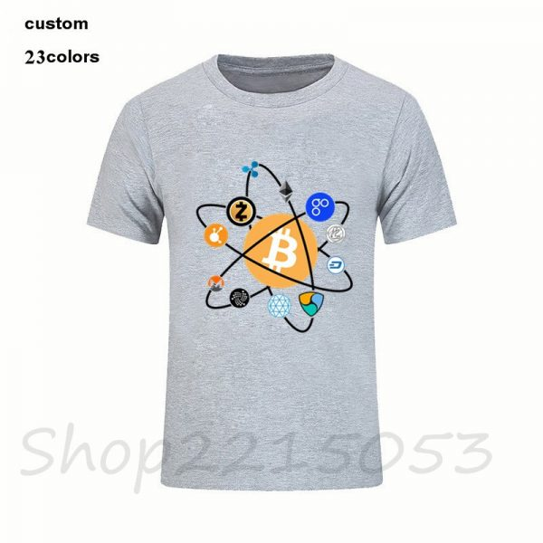 Cryptocurrency будущее Crypto логотипы Для мужчин футболка все криптовалюты футболка Atom дизайн crypto мужской IOTA Bitcoin футболка 2