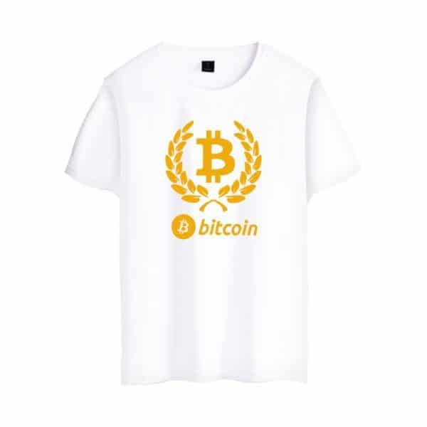 Стильная футболка c коротким рукавом и логотипом Bitcoin 3