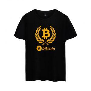 Брендовая футболка с коротким рукавом и принтом Bitcoin