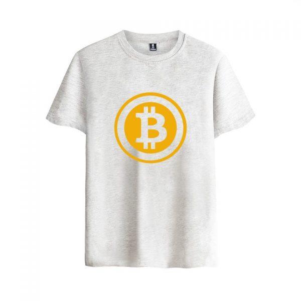 Брендовая футболка с коротким рукавом и принтом Bitcoin 5